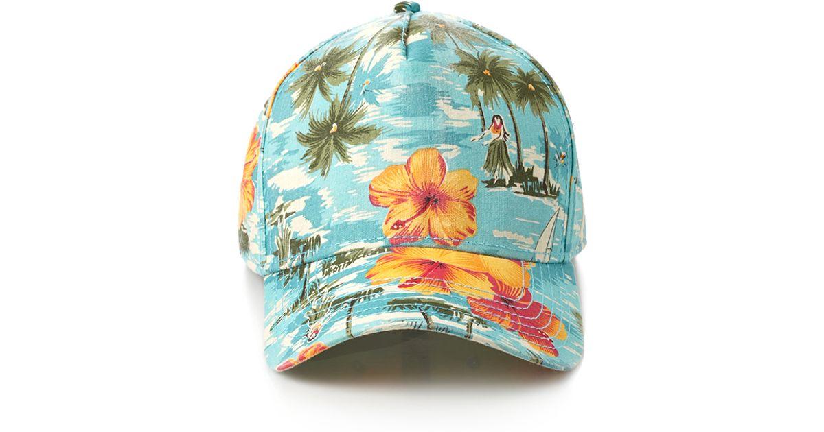Forever 21 Tropical Print Baseball Cap in Blue for Men - Lyst afbf9b2d4d3