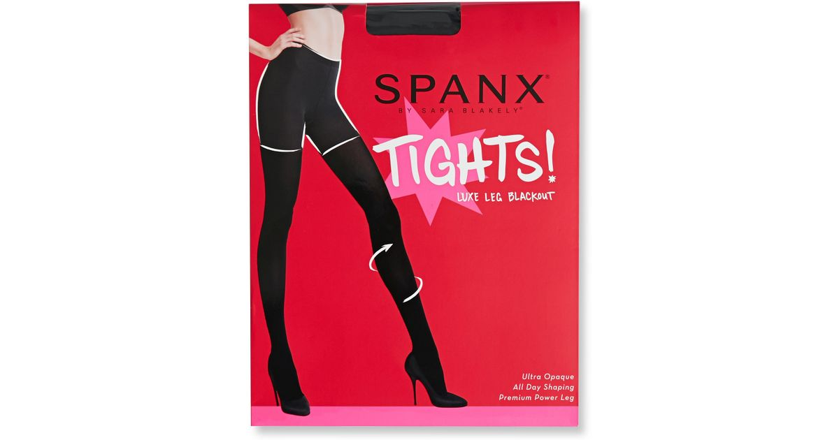 6bd865876a363 Spanx Luxe Leg Blackout Tights in Black - Lyst