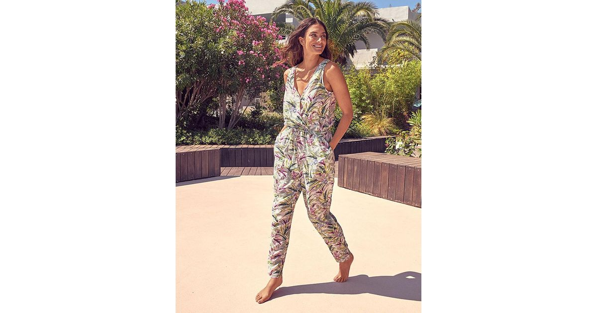 c23a8c639e4c Figleaves Vintage Palm Jumpsuit in Green - Lyst