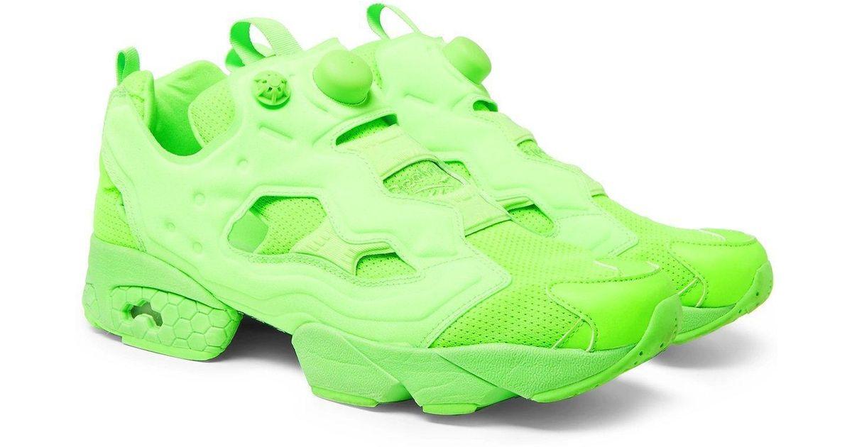 f7034c41e1baa Lyst - Vetements Reebok Neon Green Instapump Fury Sneakers By in Green