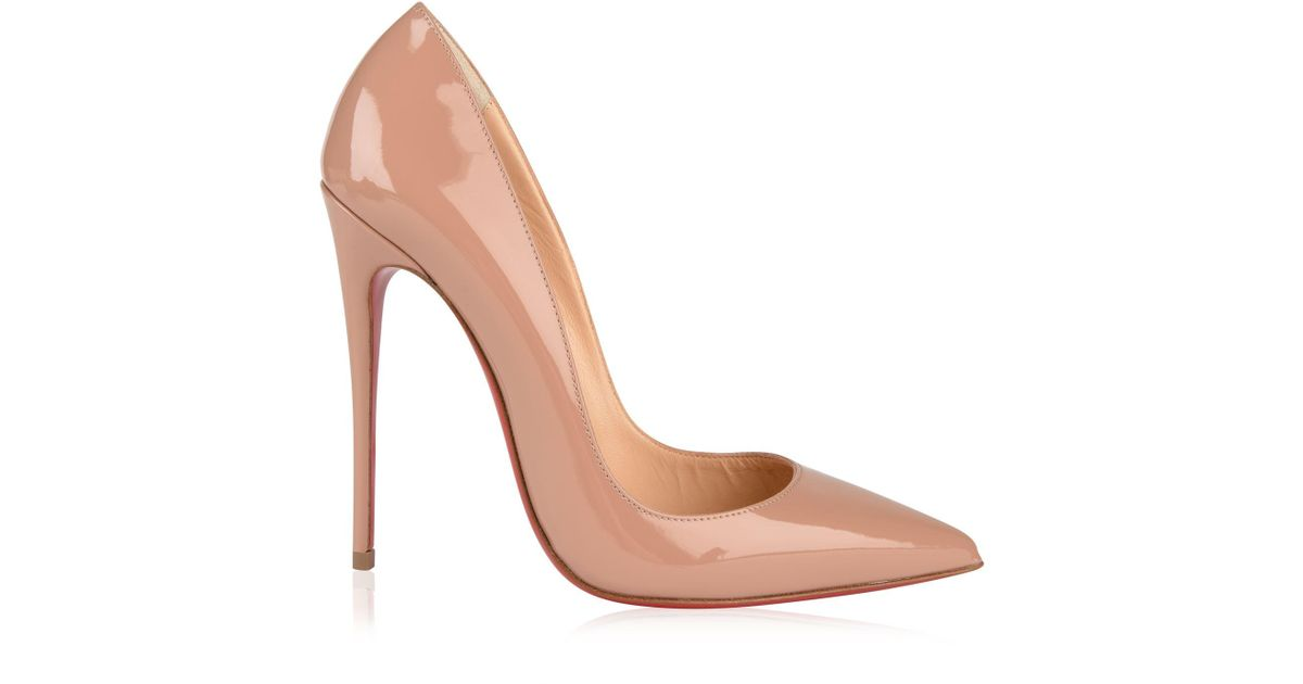 newest 82d1d e8839 Christian Louboutin - Natural Patent So Kate Heels - Lyst