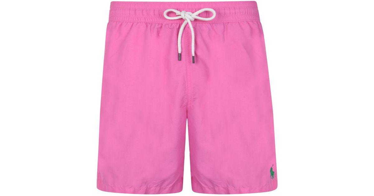 beb5f44ca4 Polo Ralph Lauren Traveler Swim Short in Pink for Men - Save 10% - Lyst