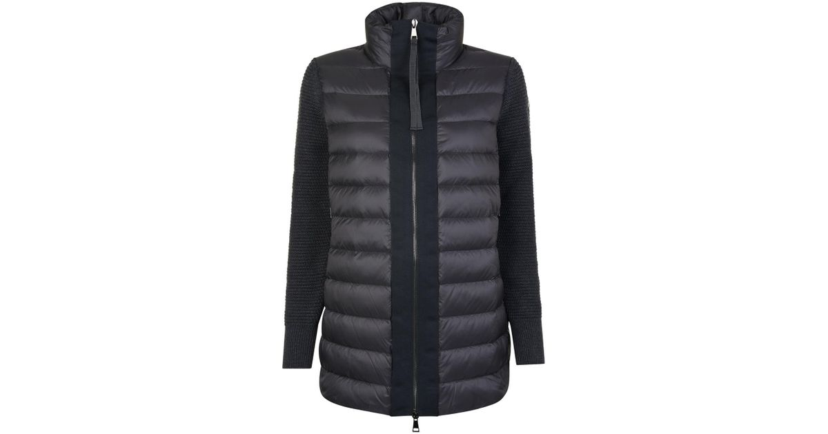 ea710a391eda Lyst - Moncler Long Tricot Jacket in Black