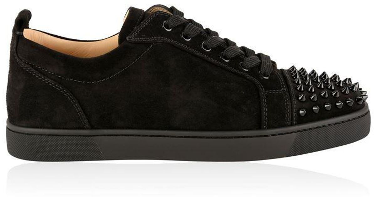 huge selection of 279bb 95392 Christian Louboutin - Black Junior Spikes Trainers for Men - Lyst