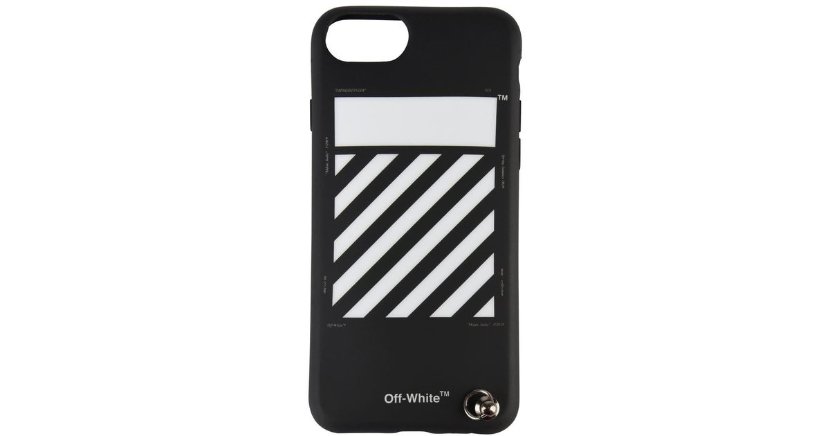 more photos e0383 7ae14 Off-White c/o Virgil Abloh Black Diagonal Iphone 8 Strap Cover