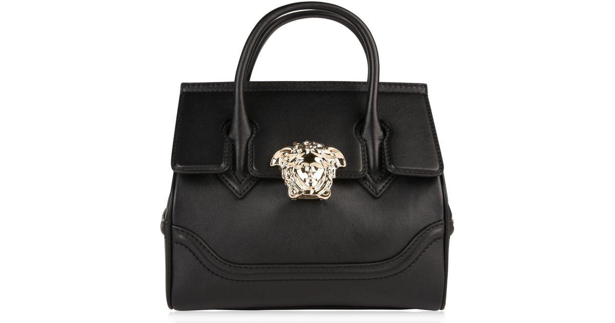 55d372ed1a Versace Medusa Clasp Bag in Black - Lyst