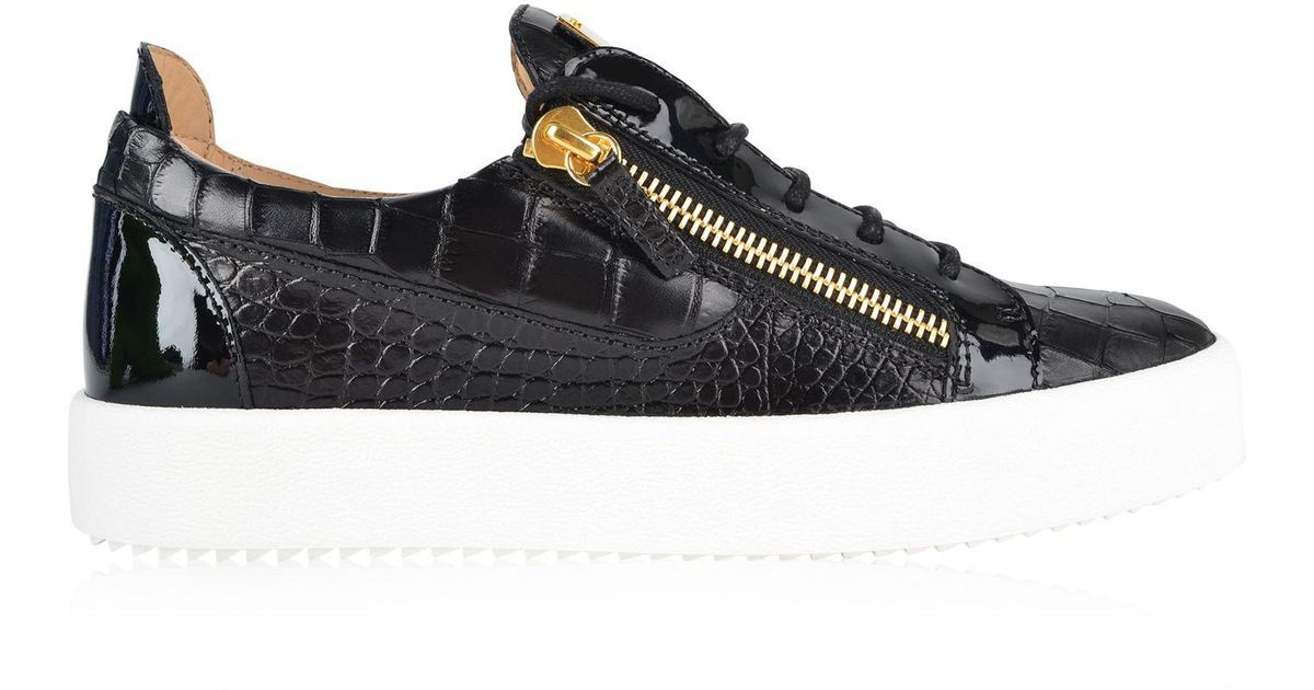 7cbb2a8463c63 Giuseppe Zanotti May Moc Croc Trainers in Black for Men - Lyst