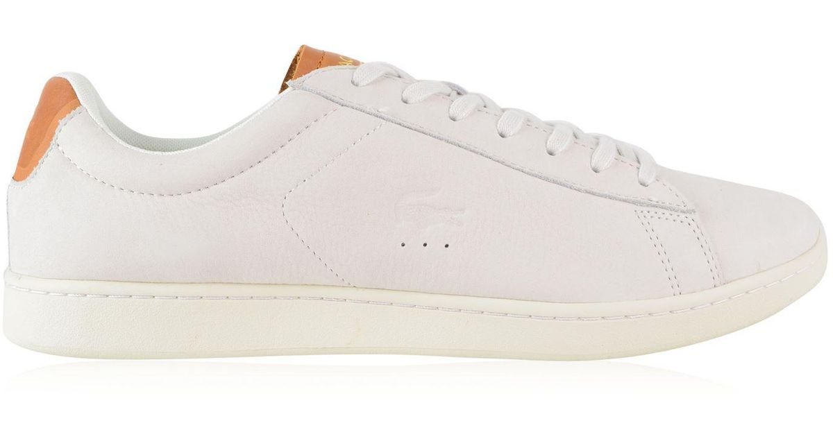 6447e4072 Lyst - Lacoste Carnaby Evo Low Top Trainers in White