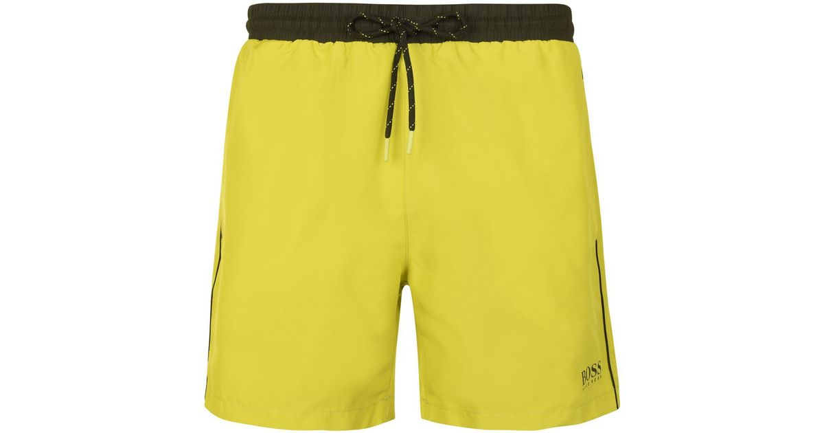 3206102c8af4d Lyst - BOSS by Hugo Boss Starfish Swim Shorts in Yellow for Men