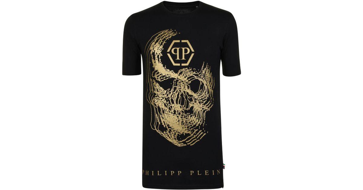 cf75d8796a2 Lyst - Philipp Plein Skull T Shirt in Black for Men