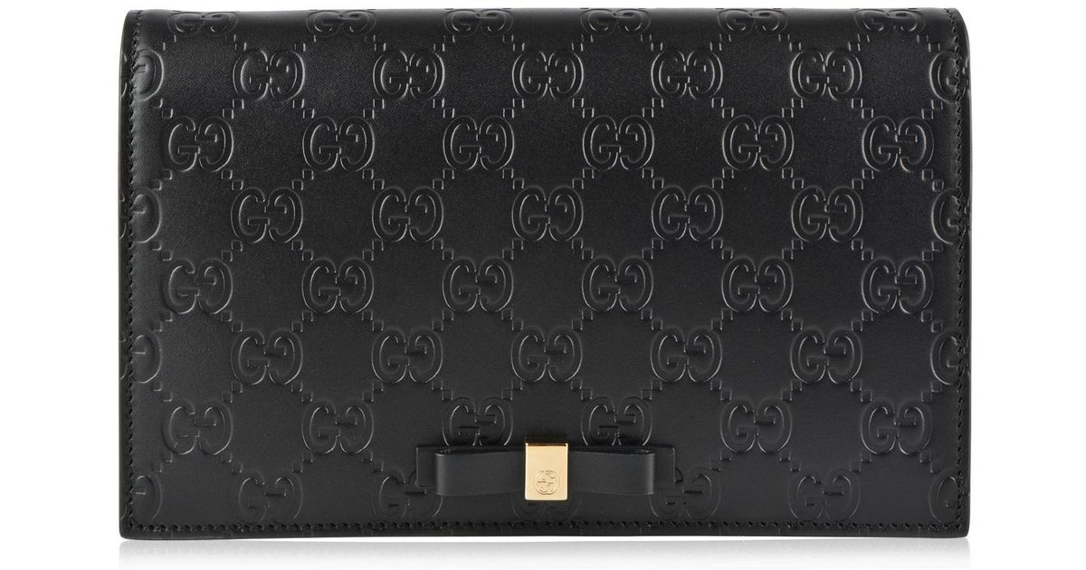 07003ba186a Gucci Gg Bow Shoulder Bag in Black - Lyst