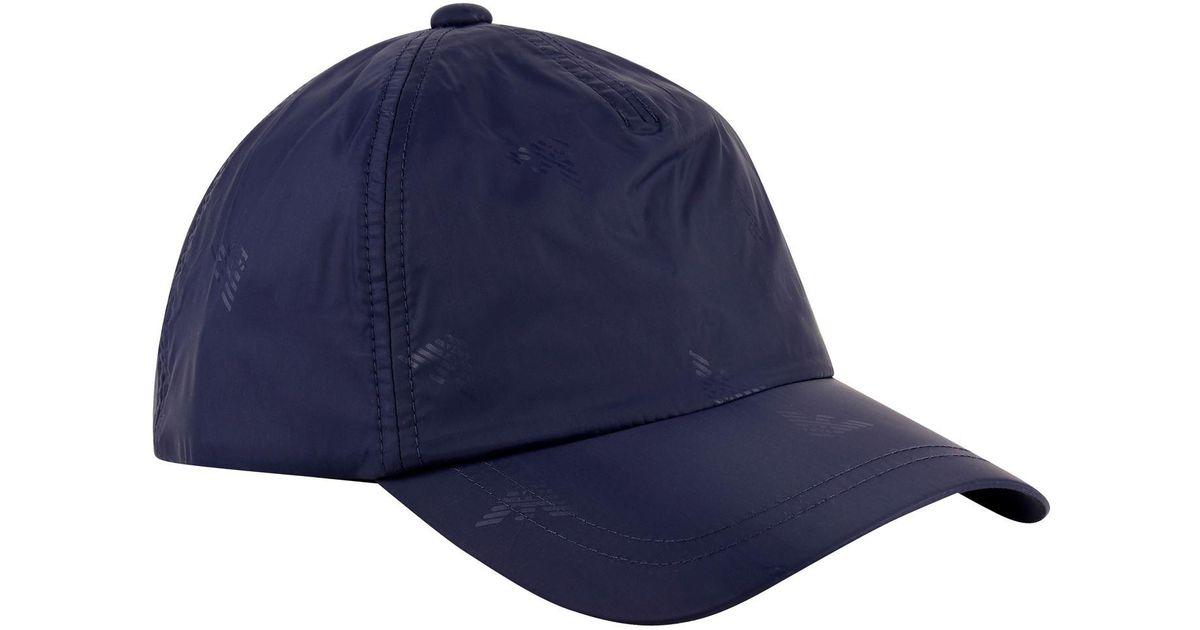 c1d65d21e29af Emporio Armani Logo Cap in Blue for Men - Lyst