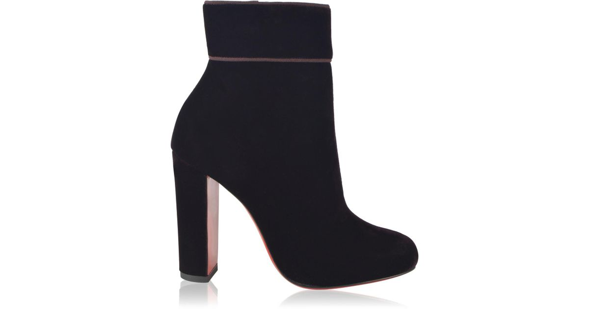 37a65f57cf4 Christian Louboutin - Blue Moulamax Velvet Ankle Boots - Lyst