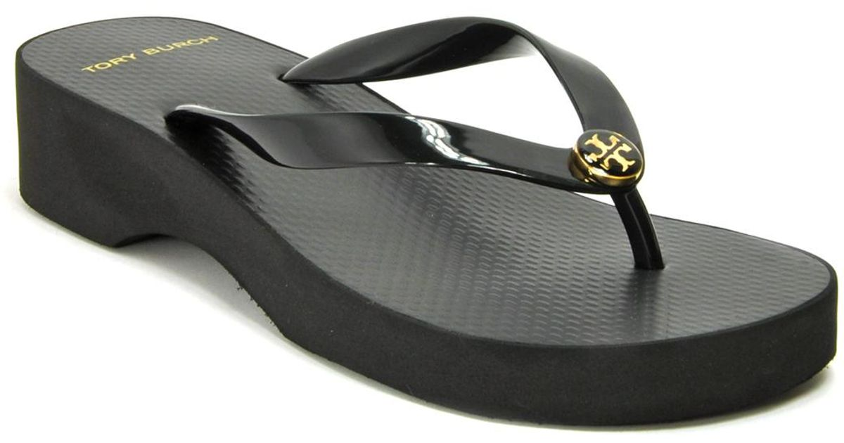 Tory Burch Printed Cut Out Wedge Flip-Flop R6iEi9h