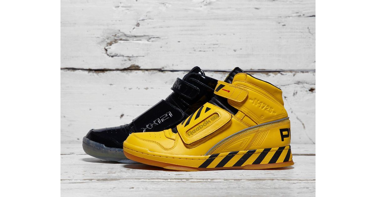 31a39c21ae314a Lyst - Reebok Alien Stomper Mid Final Scene Pack in Yellow for Men - Save  66%