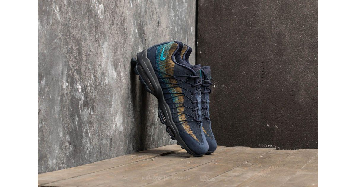 Nike Rubber Air Max 95 Ultra Jacquard Obsidian Light Blue