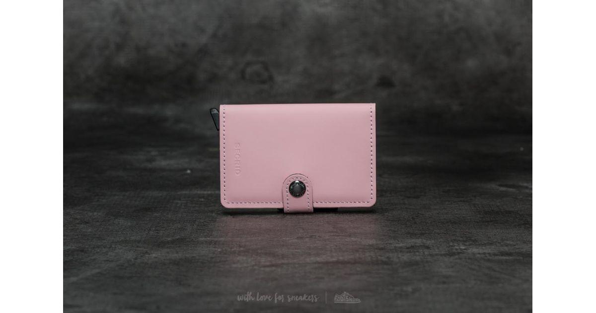 583741200f2 Footshop Secrid Miniwallet Matte Pink - Lyst