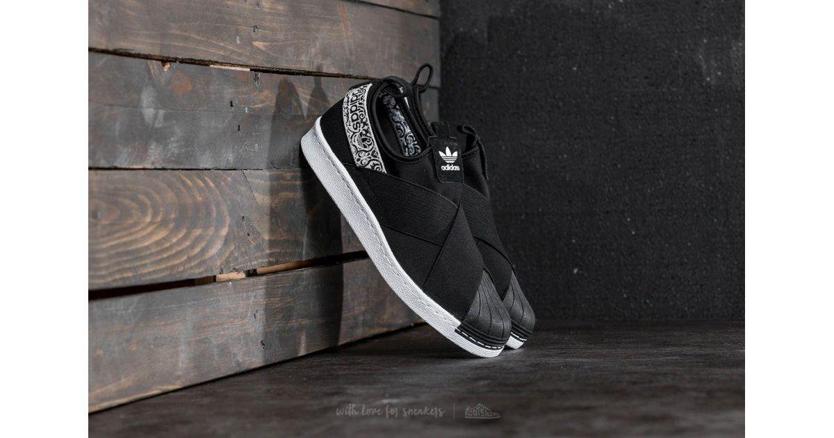 b84f89cd0 Lyst - adidas Originals Adidas Superstar Slip On W Core Black  Ftw White in  Black