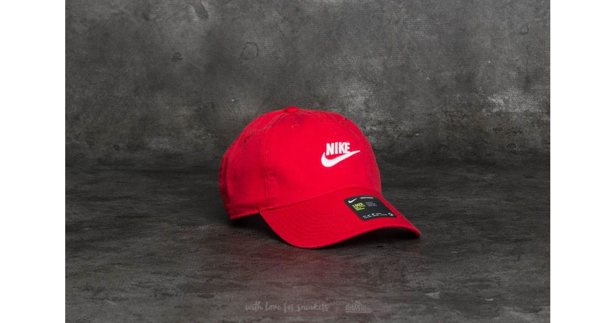 0e6e9d7181623 ... inexpensive lyst nike sportswear heritage 86 futura washed cap red in  red for men 1ebea 09fe0