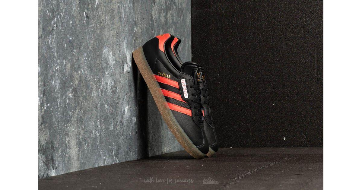 e9b8338d4cf Lyst - adidas Originals Adidas Gazelle Super Core Black  Trace Scarlet  Ftw  White in Black for Men