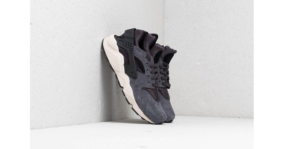 65616719fd Nike Air Huarache Run Premium Anthracite/ Black-light Bone in Black for Men  - Lyst