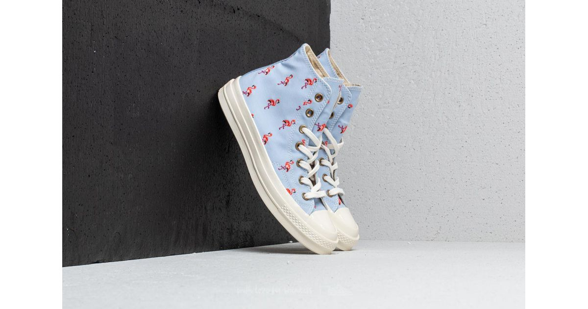 016c74c5fc2 Lyst - Converse Chuck Taylor All Star 70 Hi Blue Chill  Pale Coral  Egret  in Blue