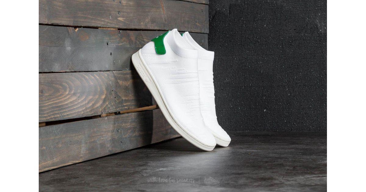 big sale cf3fe e65fd Lyst - adidas Originals Adidas Stan Smith Sock Primeknit W Ftw White  Ftw  White  Green in White for Men