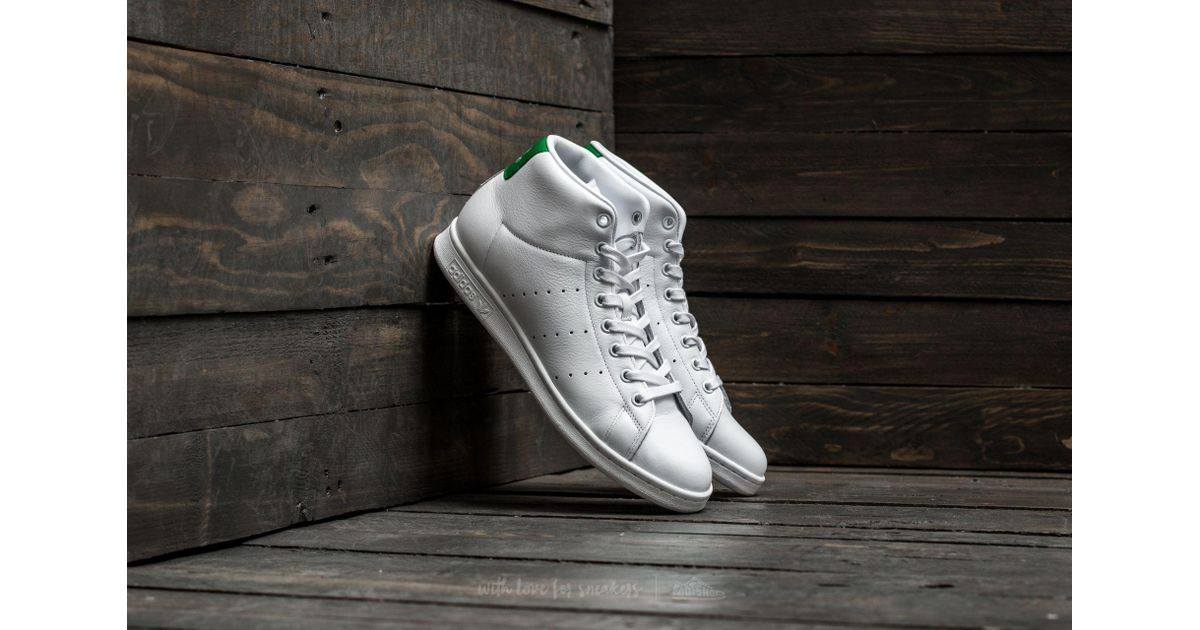 a0ba9e7bde0 Lyst - adidas Originals Adidas Stan Smith Mid Footwear White/ Footwear White/  Green in White for Men