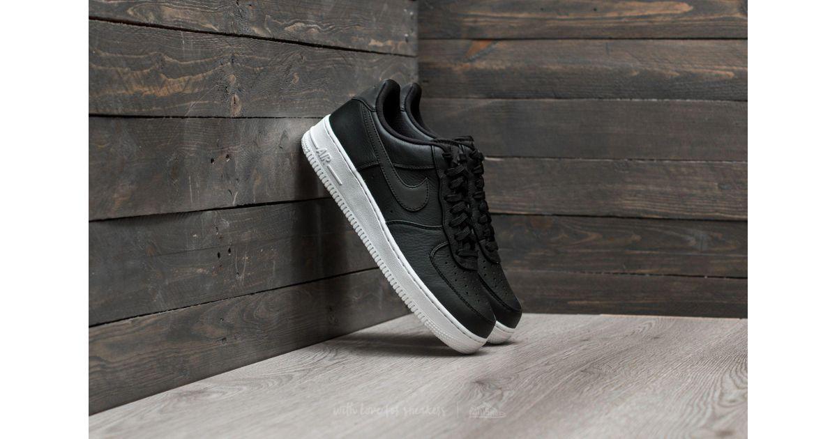 Lyst - Nike Air Force 1 ́07 Premium Black  Black-white in Black for Men 21808f93e7