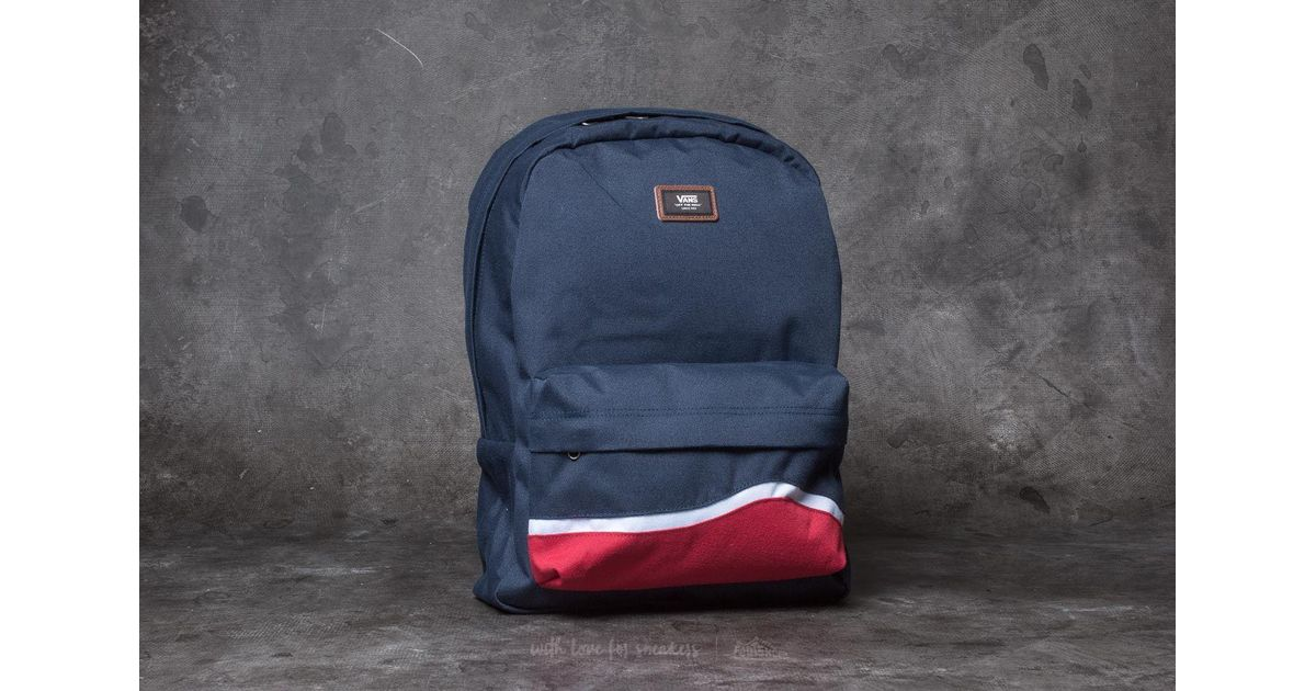 5c83144e7e Lyst - Vans Old Skool Ii Backpack Dress Blues  Racing Red in Blue for Men