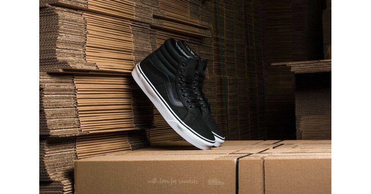 2728abe7c99c Lyst - Vans Sk8-hi Reissue (premium Leather) Black  True White in Black for  Men