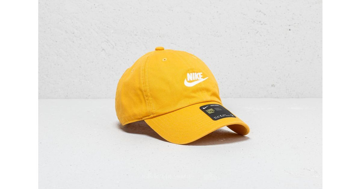 4321221cd29 ... discount code for lyst nike heritage 86 futura washed cap yellow in  yellow for men 9282c