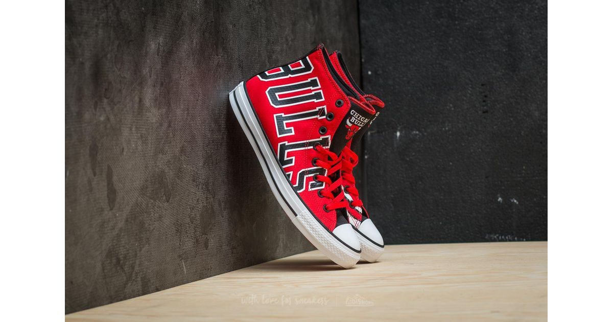 043cbef7534 Lyst - Converse X Nba Chuck Taylor All Star Se Hi Red  Black  White in Red  for Men
