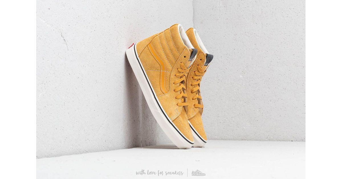 Lyst - Vans Sk8-hi (hairy Suede) Sunflower  Snow White for Men f7a78e72c