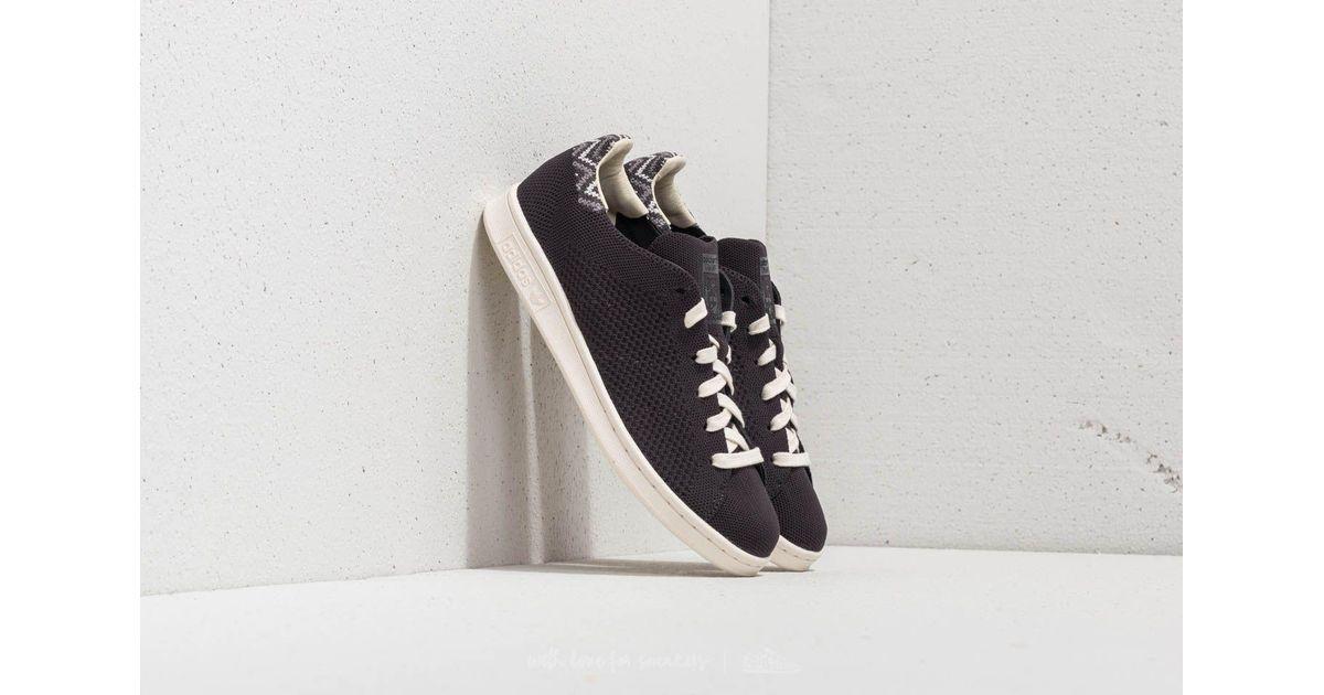 super popular fe46b d18e4 Lyst - adidas Originals Adidas Stan Smith Primeknit Carbon Carbon Chalk  White in White for Men