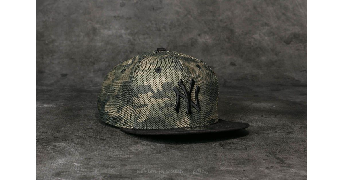 613ed0f7aac ... buy lyst ktz 9fifty mlb mesh overlay new york yankees cap camo black in  black for