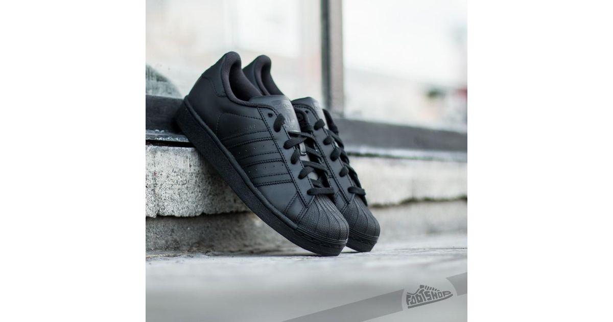new arrival 2e1e2 b0b35 Lyst - adidas Originals Adidas Superstar Foundation J Core Black in Black
