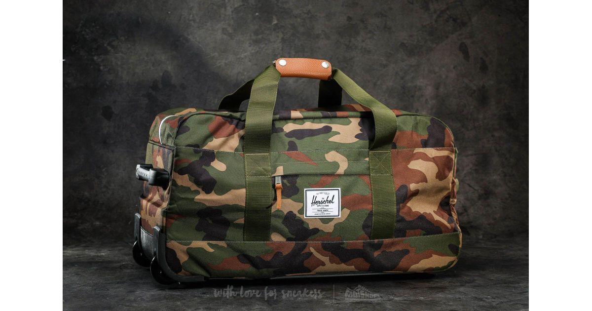 5418724b35 Lyst - Herschel Supply Co. Wheelie Outfitter Travel Bag Woodland Camo in  Green for Men