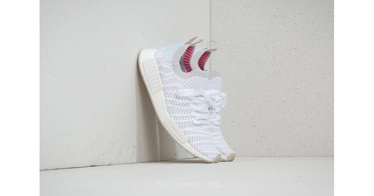 b52f69b26 Lyst - adidas Originals Adidas Nmd r1 Stlt Primeknit Ftw White  Grey One   Solar Pink in White for Men