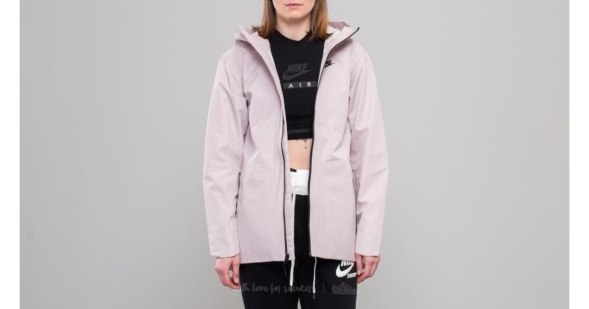 77ec19a3fd5713 Lyst - Nike Sportswear Tech Woven Jacket Particle Rose  Black in Pink -  Save 19%