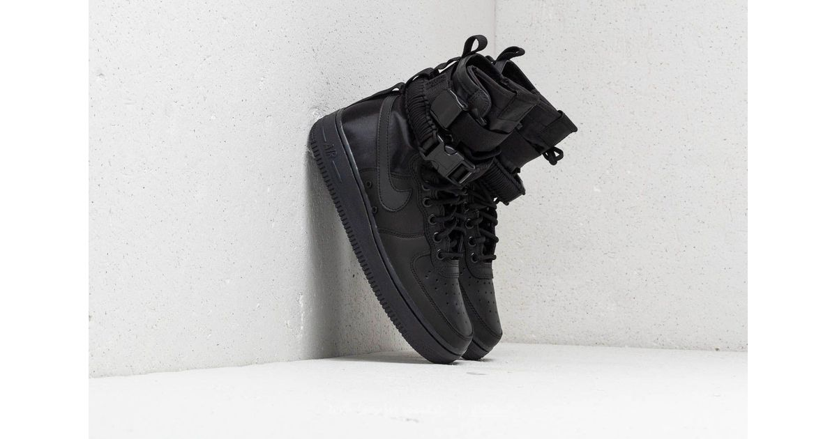 Lyst - Nike Wmns Sf Air Force 1 Black  Black-black-oil Grey in Black 1e4ed452f7ac