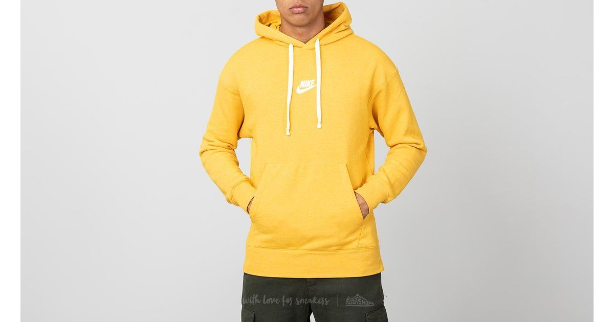 Lyst - Nike Sportswear Heritage Pullover Hoodie Yellow in Yellow for Men 08011d88acda