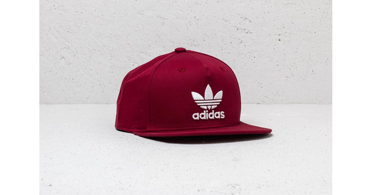 1fcf369adb2 Lyst - adidas Originals Adidas Trefoil Snapback Collegiate Burgundy in Red  for Men