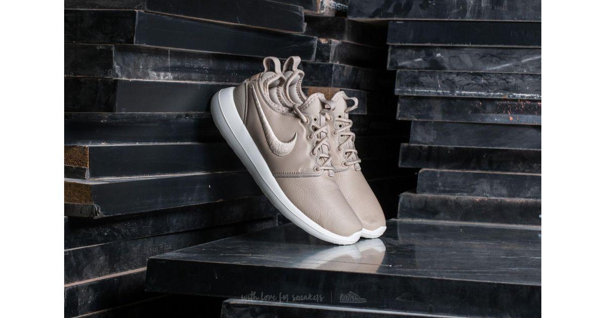 free shipping 16236 a8f7b Lyst - Nike Wmns Roshe Two Si Oatmeal  Oatmeal-ivory