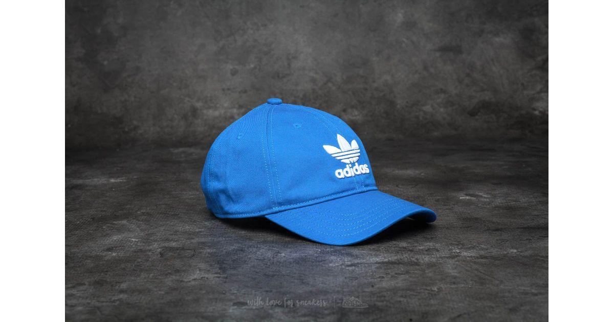 Lyst - adidas Originals Adidas Trefoil Cap Blue in Blue for Men ebe467230e3