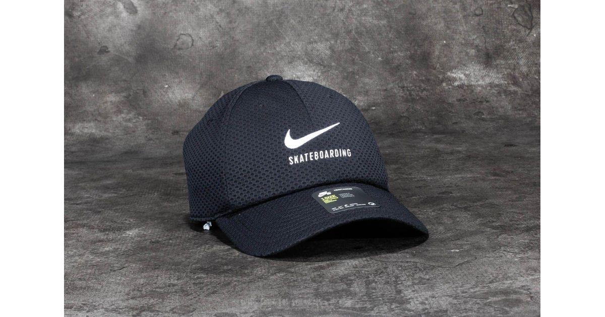 1be45718e12 Lyst - Nike Sb Swoosh Mesh Heritage 86 Cap Black  White in Black for Men