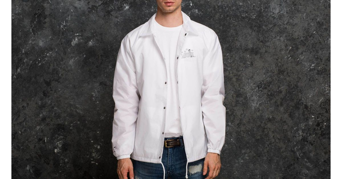 Lyst Vans X Peanuts Torrey Coach Jacket White In White For Men