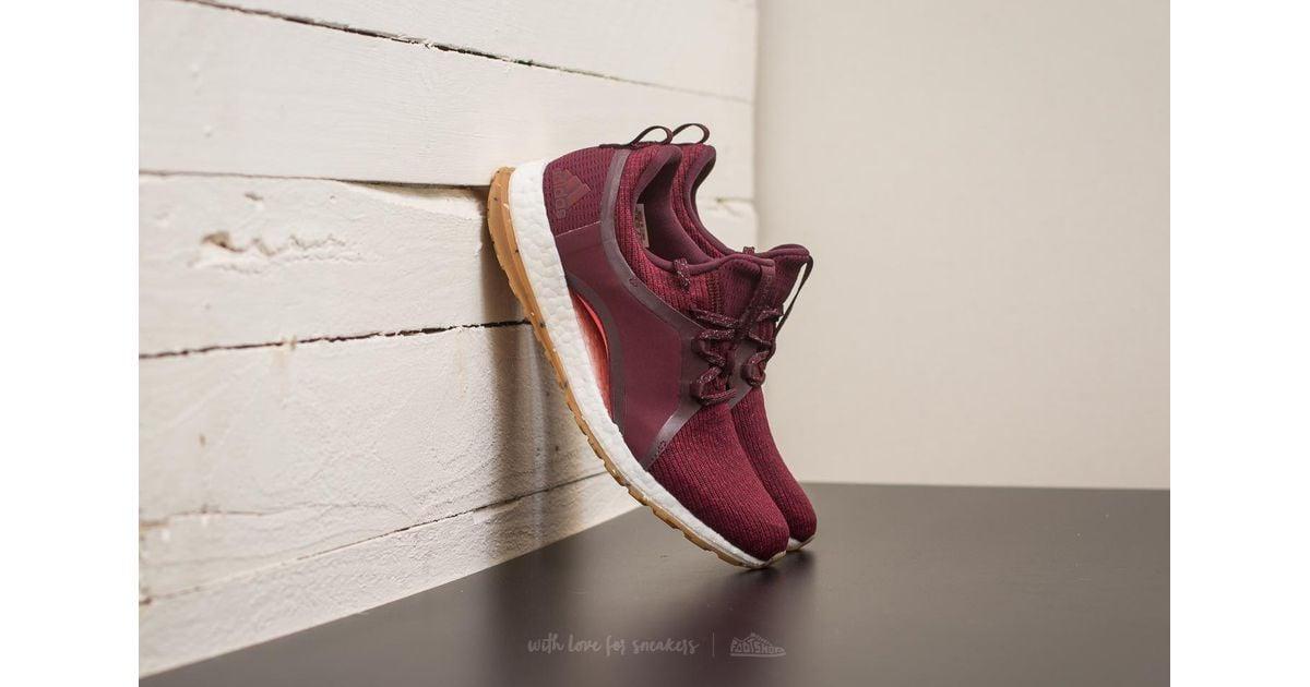 b875973fb57cbe Lyst - adidas Originals Adidas Pureboost X All Terrain Red Night  Mystery  Ruby  Easy Coral in Red