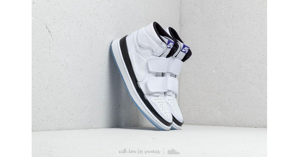 sports shoes cddf5 27fea Lyst - Nike Air 1 Retro High Double Strap White  Dark Concord-black in White  for Men