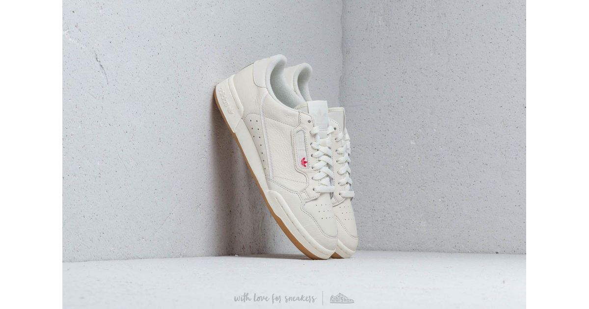 finest selection 65f82 68047 adidas Originals Adidas Continental 80 Off White  Raw White  Gum 3 in White  for Men - Lyst